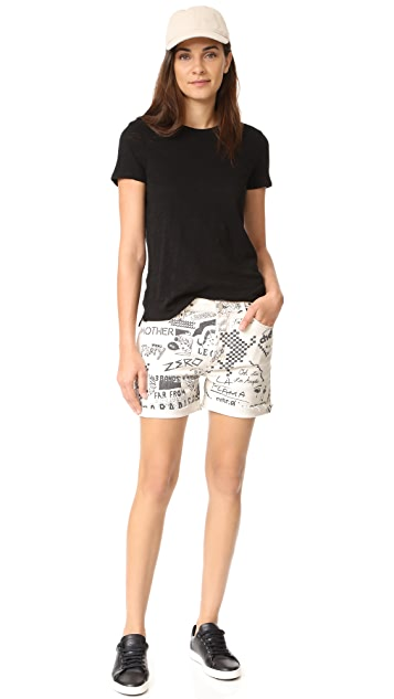 MOTHER The Vagabond Cuff Shorts