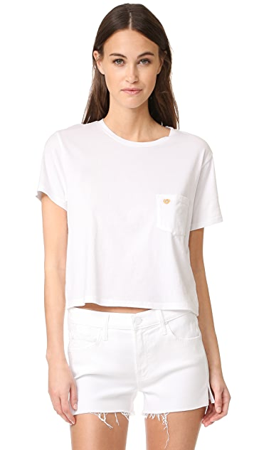 MOTHER MIRANDA + MOTHER T Time Crop Pocket Shirt