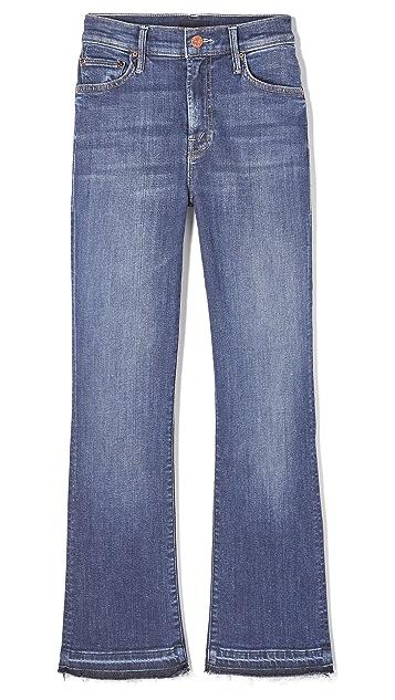 MOTHER The Insider Crop Undone Hem Jeans