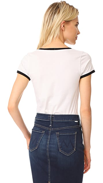 MOTHER Itty Bitty Goodie Ringer Tee