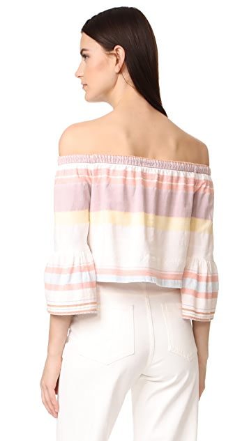 MOTHER Cold Shoulder Belle Top