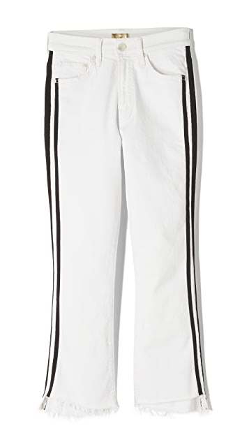 MOTHER Insider Crop Step Fray white Jeans