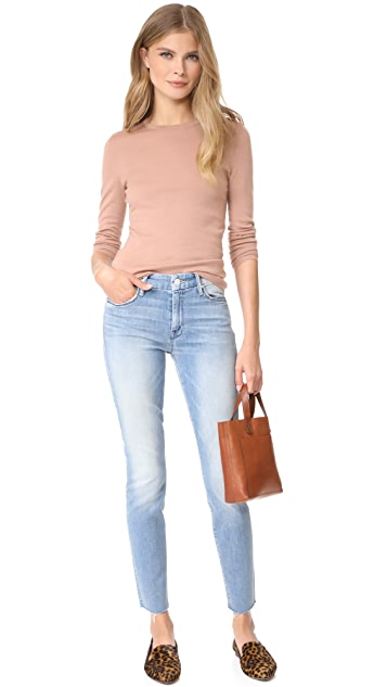 MOTHER Looker Ankle Fray Jeans