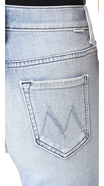 MOTHER Insider Crop Two Step Fray Jeans