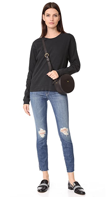 MOTHER The Vamp Fray Skinny Jeans
