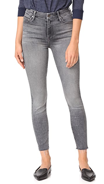 58d296f368437 MOTHER High Waist Looker Ankle Fray Jeans