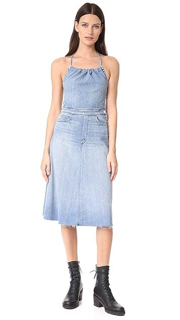0b6320eac2 MOTHER Tie Back Midi Dress ...