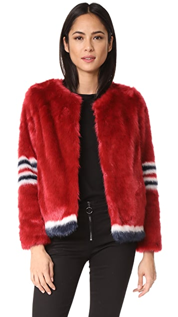 MOTHER Boxy Faux Fur Coat