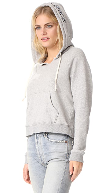 MOTHER Square Stitched Hood Sweatshirt