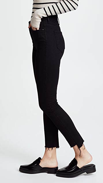 MOTHER The Stunner Step Hem Ankle Jeans