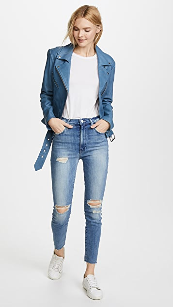 MOTHER Swooner Ankle Fray Jeans