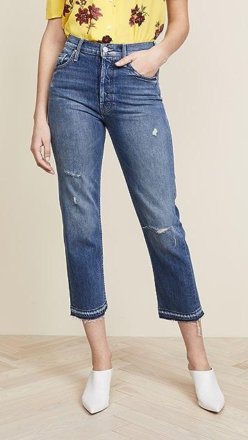 MOTHER The Tomcat Undone Hem Jeans