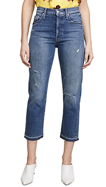 MOTHER The Tomcat Undone Hem Jeans