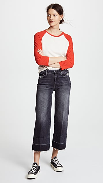 MOTHER The Roller Crop Undone Hem Jeans