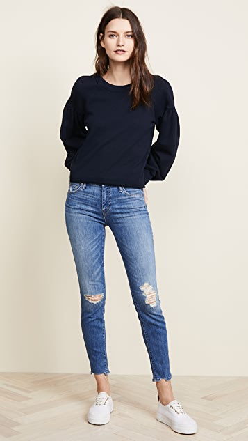 The Looker Ankle Chew Jeans by Mother