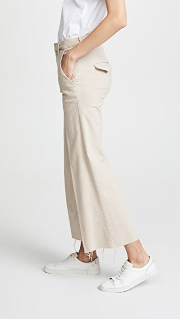 MOTHER The Roller Crop Prep Fray Pants