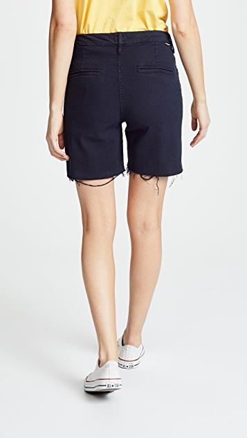 MOTHER The Bermuda Prep Snippet Fray Shorts