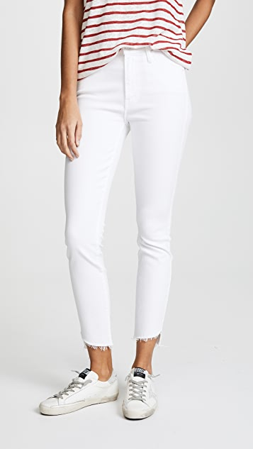 MOTHER The Stunner Jeans with Zip Ankle & Step Fray
