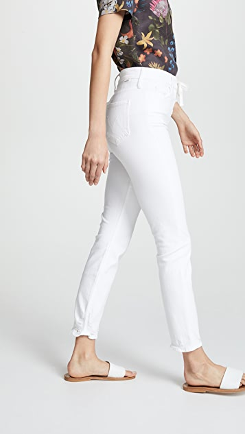 MOTHER The Lace Up Dazzler Ankle Jeans