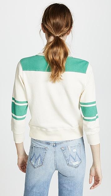 MOTHER The Half & Half Koozie Sweatshirt