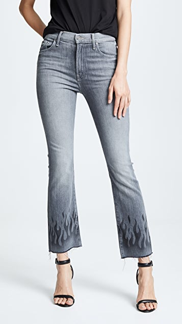MOTHER The Insider Ankle Fray Jeans