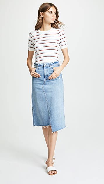 MOTHER The Straight A Step Fray Skirt