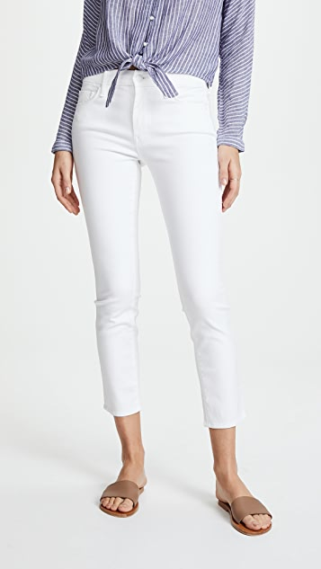 MOTHER Looker Crop Skinny Jeans - Glass Slipper