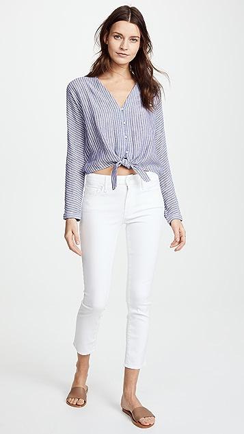 MOTHER Укороченные джинсы-скинни Looker