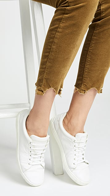 MOTHER High Waisted Looker Ankle Chew Pants