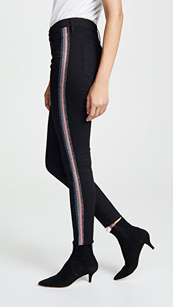 MOTHER High Waisted Looker Ankle Jeans with Fraying