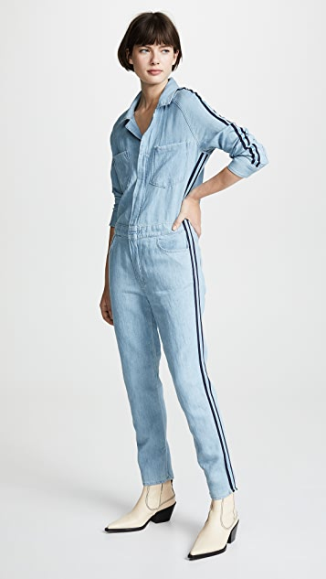 MOTHER The Zip Riveter Jumpsuit