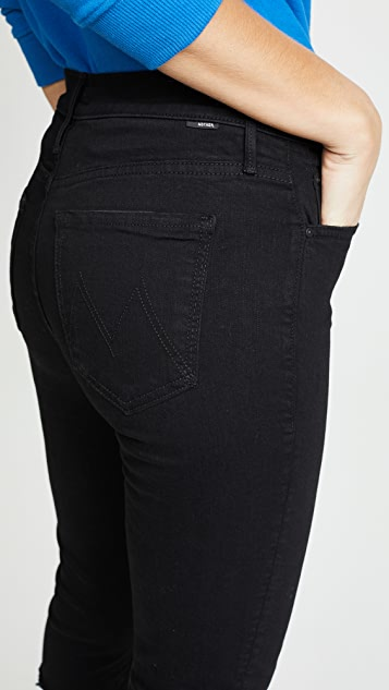 MOTHER High Waisted Rascal Knicker Fray Jeans