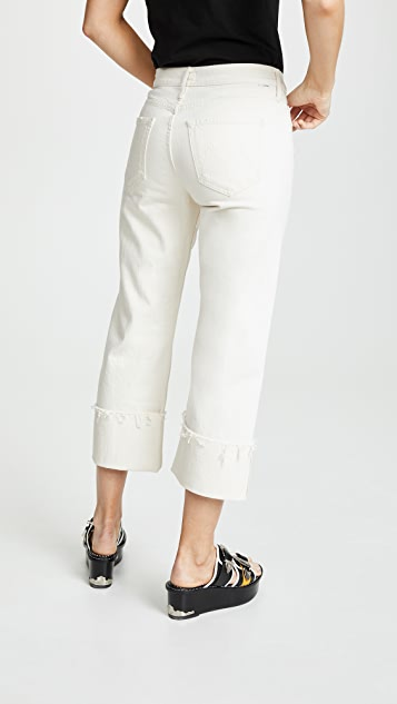 MOTHER The Dusty Cuff Fray Jeans