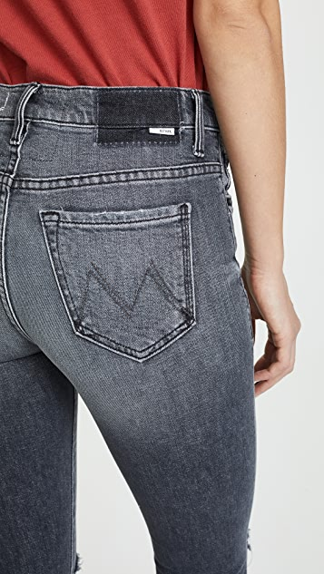 MOTHER The Insider Crop Chew Jeans