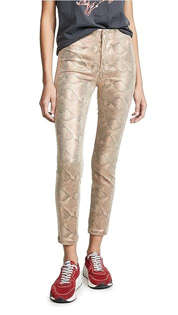 MOTHER Бесшовные джинсы до щиколотки