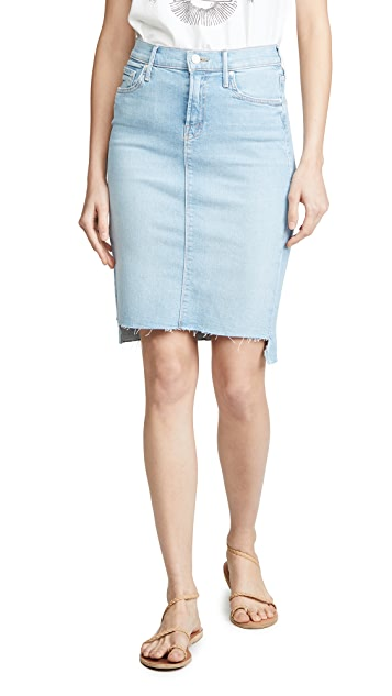 MOTHER The Peg Step Fray Skirt