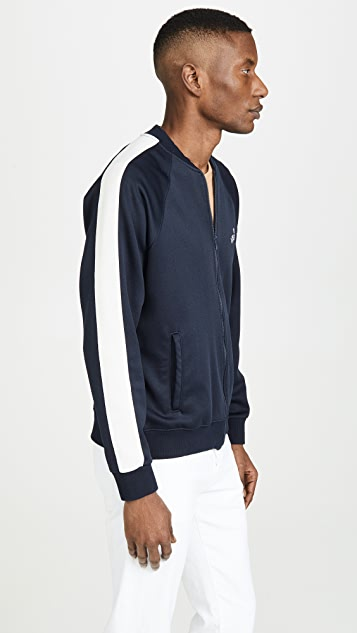 MOTHER The Runner Letterman Stripe Track Jacket