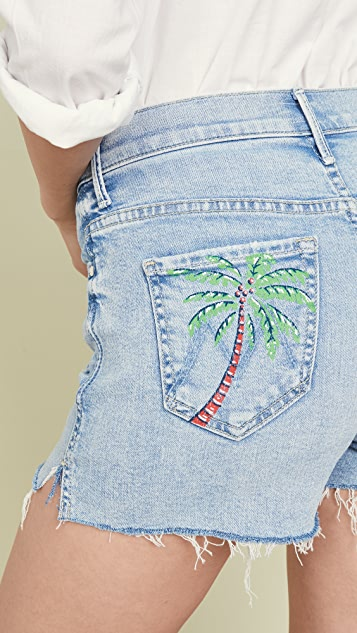 MOTHER Rascal Fray Shorts