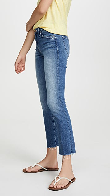 MOTHER The Rascal Crop Fray Jeans