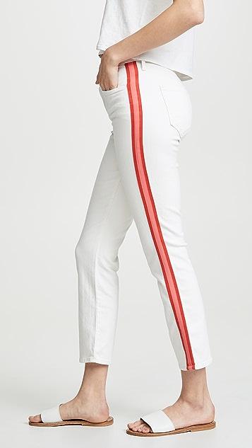MOTHER Укороченные джинсы Dazzler со средней посадкой
