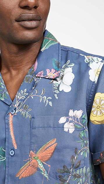 MOTHER The Hooky Floral Short Sleeve Shirt