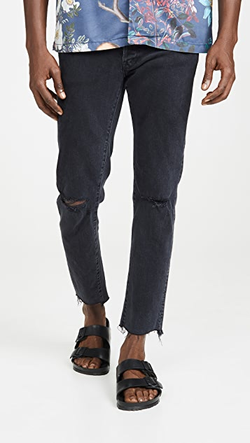 MOTHER The Neat Ankle Step Fray Denim In Soul Taker Wash