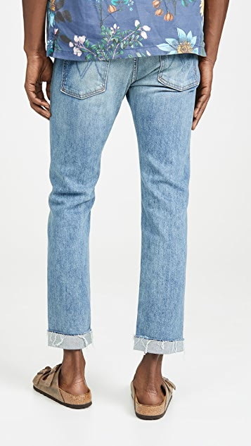 MOTHER The Neat Cuff Ankle Fray Denim In Last Supper Wash