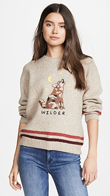 The Alpaca Boxy Pullover Sweater by Mother