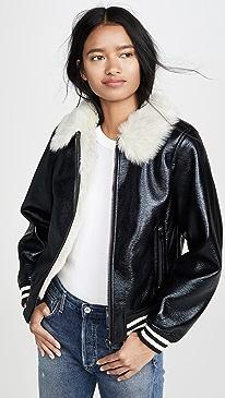 The Faux Fur Moto Jacket