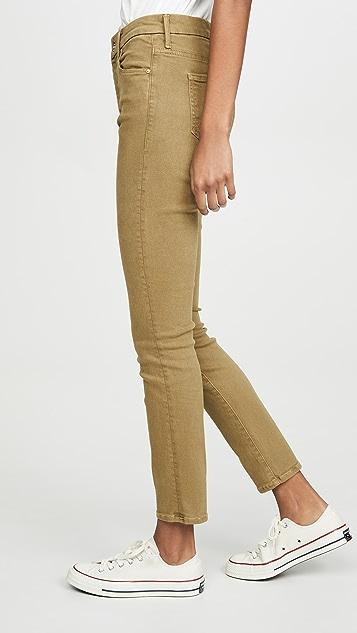 MOTHER 高腰 Looker 及踝牛仔裤