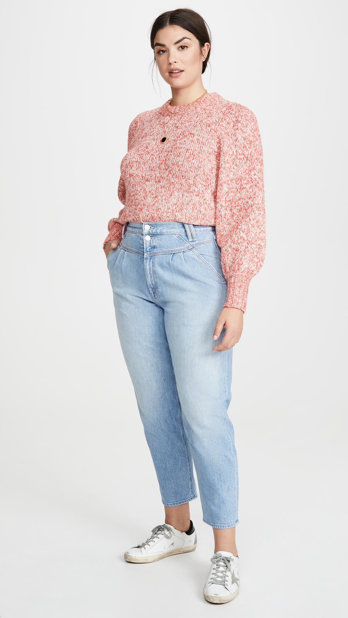 MOTHER MOTHER Superior The Pleated Popular Peg Jeans