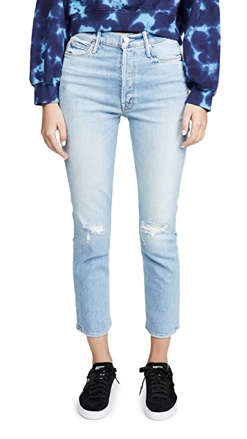 MOTHER MOTHER Superior The Dazzler Button Fly Ankle Jeans