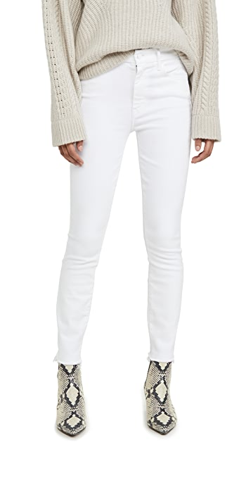 MOTHER High Waisted Looker Ankle Fray Jeans - Fairest Of Them All