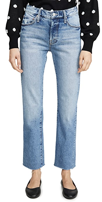 MOTHER The Scrapper Cuff Ankle Fray Jeans - Take Me Higher